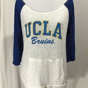 Simply Sporty UCLA Bruins Off The Shoulder Tee 3/4